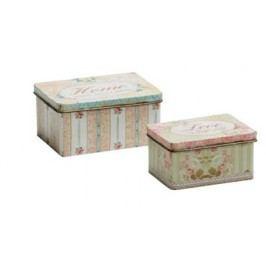 Dekoratívne krabice, 2 ks - viacfarebná