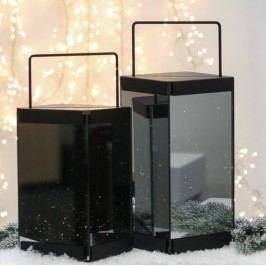 Svietnik RISI, 30 cm - strieborná, čierna