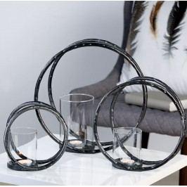 Svietnik RING, 25 cm - antracitová