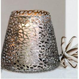 Dekoratívny svietnik PURLEY 11 cm - antická strieborná