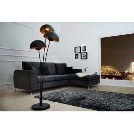 Stojáca lampa STADI, 170 cm - čierna, zlatá