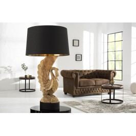 Stolná lampa SVEN - prírodná, čierna