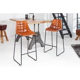 Barová stolička TAUR, 110 cm - hnedá