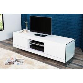 Televízny stolík FLO, 160 cm - biela