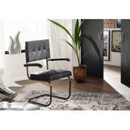 Stolička, práva koža - čierna