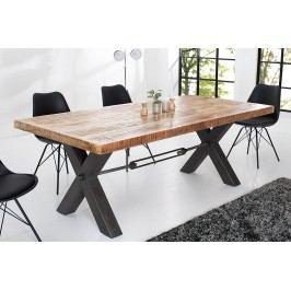 Jedálenský stôl IRON, 200 cm - prírodná