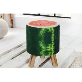 Taburetka MELÓN, 45 cm - zelená, červená