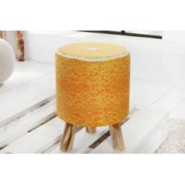 Taburetka POMARANČ, 45 cm - oranžová