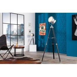 Stojáca lampa HOLLY, 145 cm - čierna, strieborná