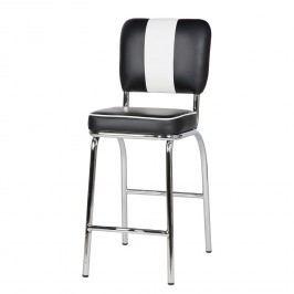 Barová stolička dvojset OLVIS - čierna, biela