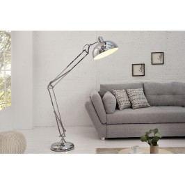 Stojaca lampa LOF, 180 cm - strieborná