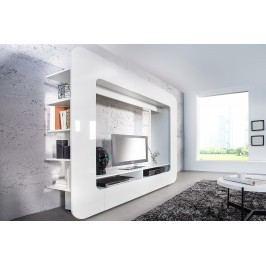TV stena CUBOS, 185 cm - biela