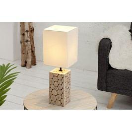Stolná lampa NATUR - biela