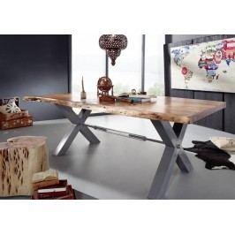 Jedálenský stôl 240x110cm X-nohy - strieborná