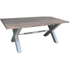 Jedálenský stôl 220x100cm X-nohy - strieborná