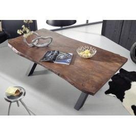 Jedálenský stôl 200x110cm X-nohy - čierna