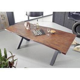 Jedálenský stôl 200x100cm X-nohy - čierna