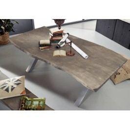 LJedálenský stôl 180x110cm X-nohy - strieborná