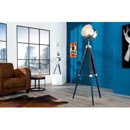 Stojáca lampa HOLLY, 110-150 cm - čierna, strieborná