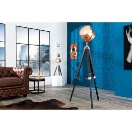 Stojáca lampa HOLLY, 110-150 cm - čierna, medená
