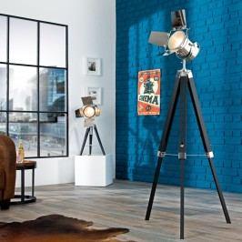 Stojáca lampa HOLLY, 95-140 cm - čierna, strieborná