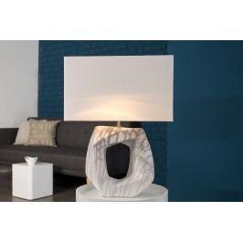 Stolná lampa FLORA, 60 cm - biela