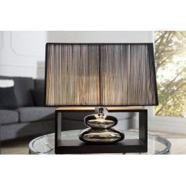 Stolná lampa GRACIE, 35 cm - čierna, strieborná