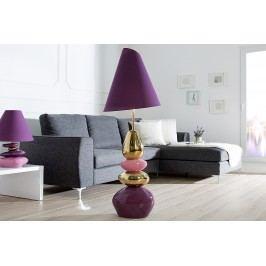 Stojáca lampa ELESTO, 150 cm - fialová, zlatá