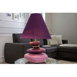 Stolná lampa ELESTO, 60 cm - fialová, zlatá