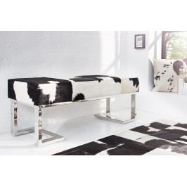 Lavica REDO 110 cm - čierna, biela
