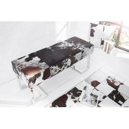 Lavica REDO 110 cm - hnedá, biela