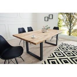 Jedálenský stôl WOTANA 160 cm - hnedá, čierna