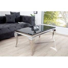 Konferenčný stolík MODERN BAROQUE 100 cm - čierna, strieborná