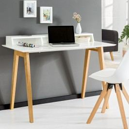 Písací stôl SCANIA MEISTER 120 cm - biela