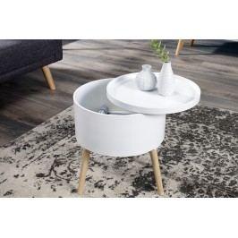 Odkladací stolík WISE 45 cm - biely