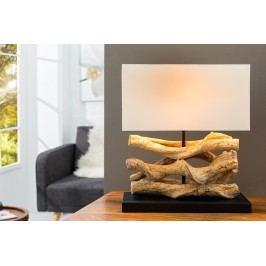 Stolná lampa TWISTED WOOD - béžová