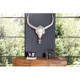 Nástenná dekorácia Matador 75 cm - strieborná
