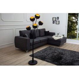 Stojaca lampa MEGMA 170cm - čierne zlato