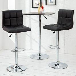 Barová stolička MODERN 90-115 cm - čierna