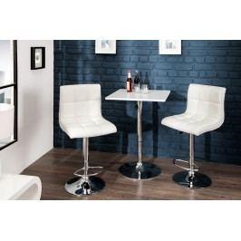 Barová stolička MODERN 90-115 cm - biela