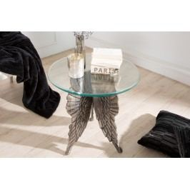 Príručný stolík ANGEL 65 cm - strieborná