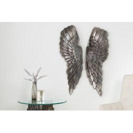 Dekorácia ANGEL 65 cm - strieborná