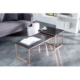 Set 2 konferenčných stolíkov MERGER - čierna, medená