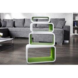 Regál CLUB SET GREEN - biela/zelená