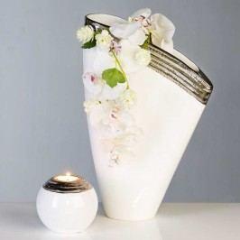 Dizajnová váza UDJAURE 40 cm - biela