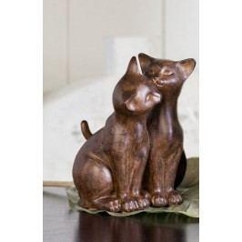 Dizajnové figúrky CAT COUPLE - hnedá