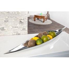 Dekoratívna miska BREGENZ 80 cm - strieborná