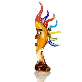 Sklenená figurína HARLEQIUN -žltá