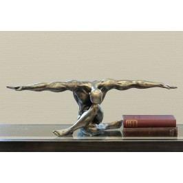 Dekoratívna soška CLIFF - bronzová