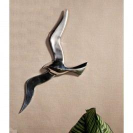 Dekorácia na stenu FLYING BIRD 48 cm - strieborná